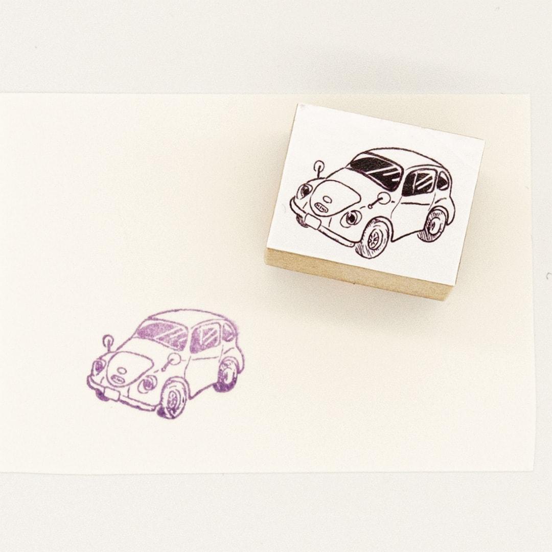 スタンプ<br>レトロな自動車イメージ3