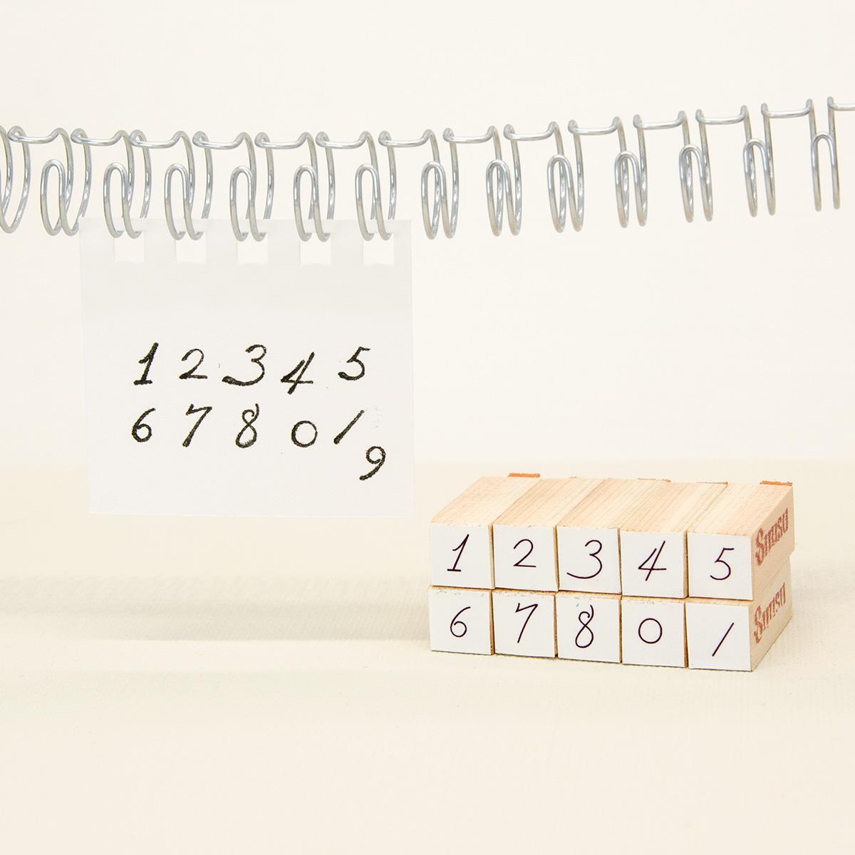 数字スタンプ・オリジナルフォント
