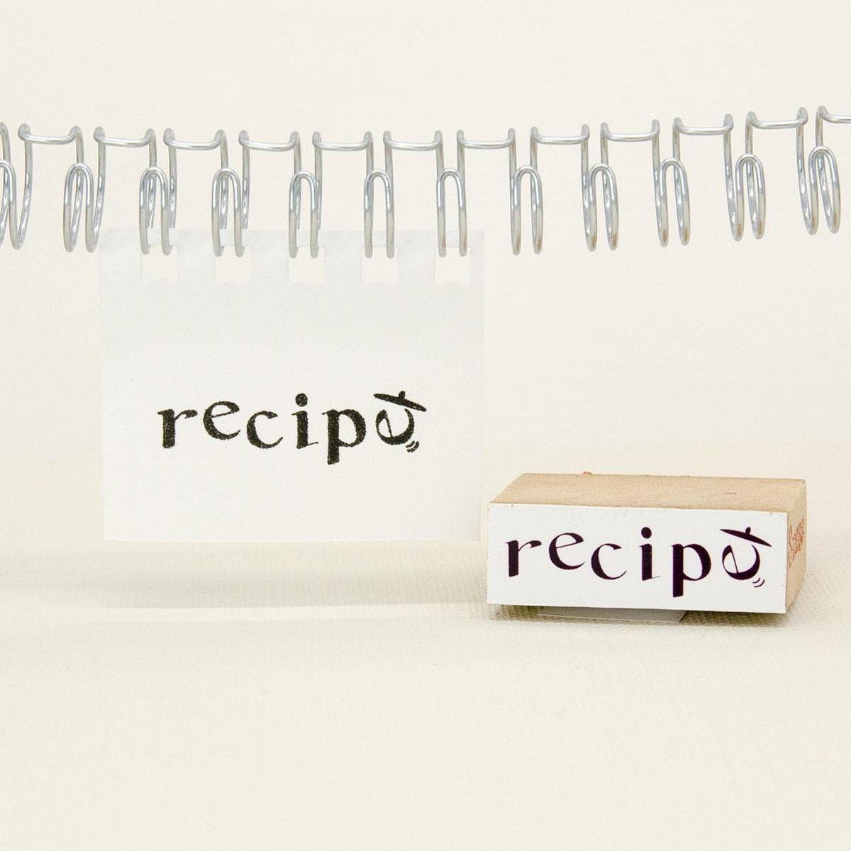 レシピの文字スタンプ