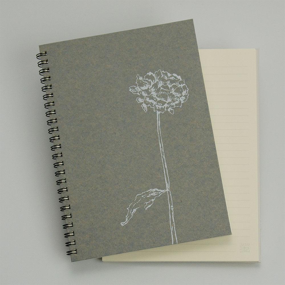 オーダーノート(A5)<br>dryflower<br>(裏表紙/灰白)イメージ1