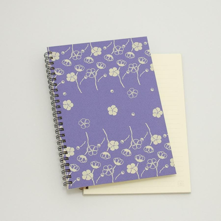 オーダーノート(A5)<br>コットン×紫色