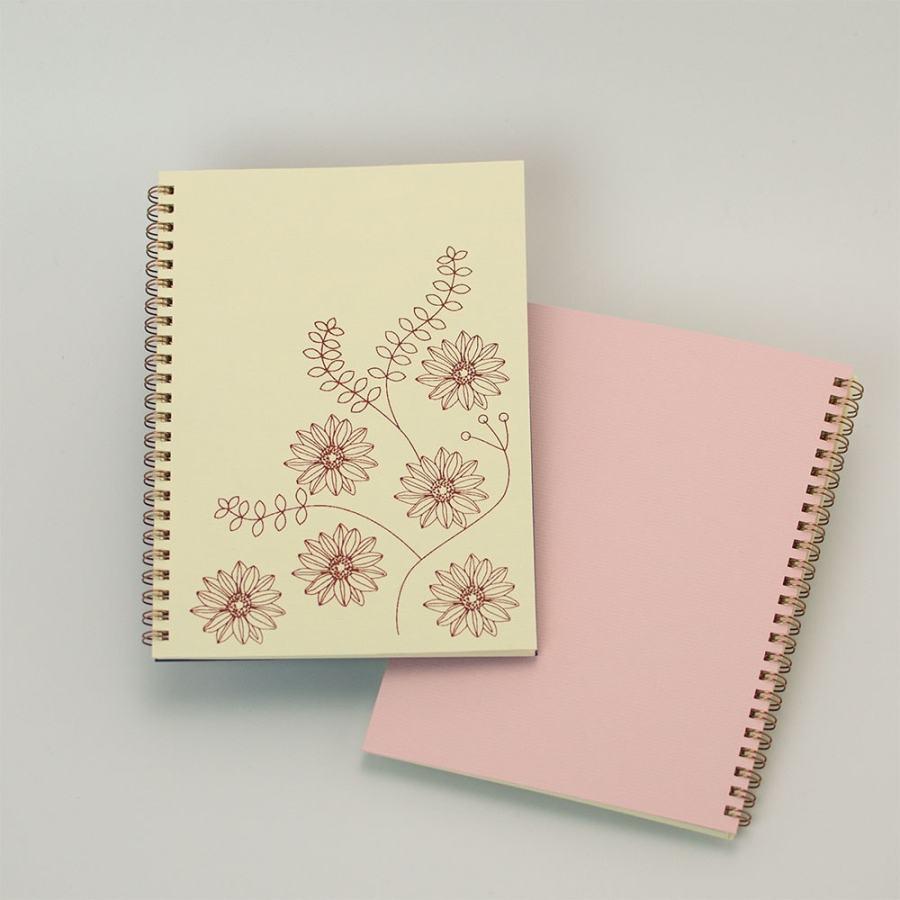 「gerbera 白」背表紙「ピンク」
