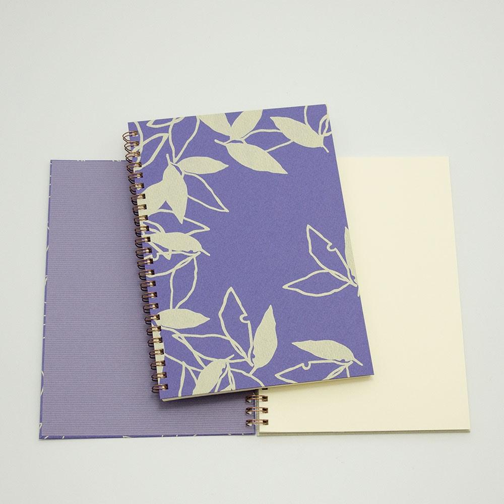 葉模様×紫色イメージ2