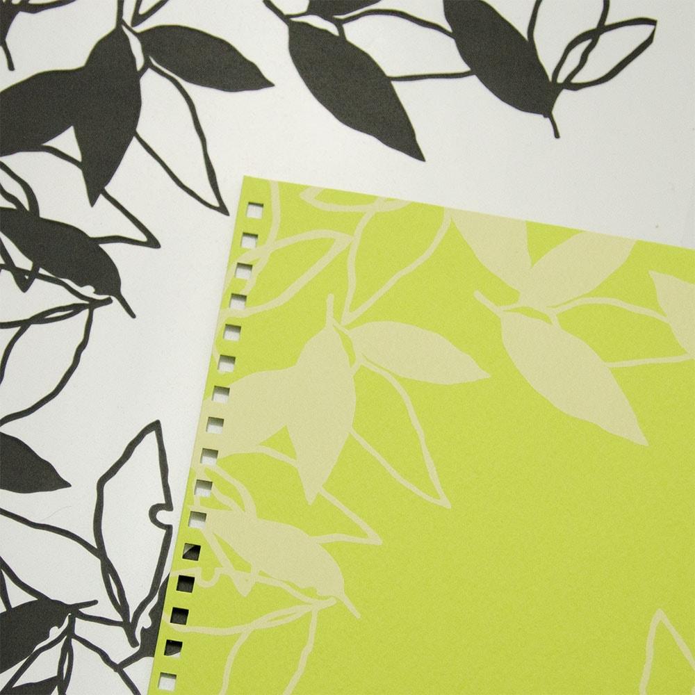 葉模様×黄緑色イメージ5