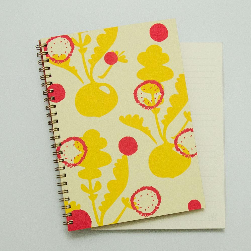 こだわりのリングノート。自分だけのオリジナルデザインノート。radish。