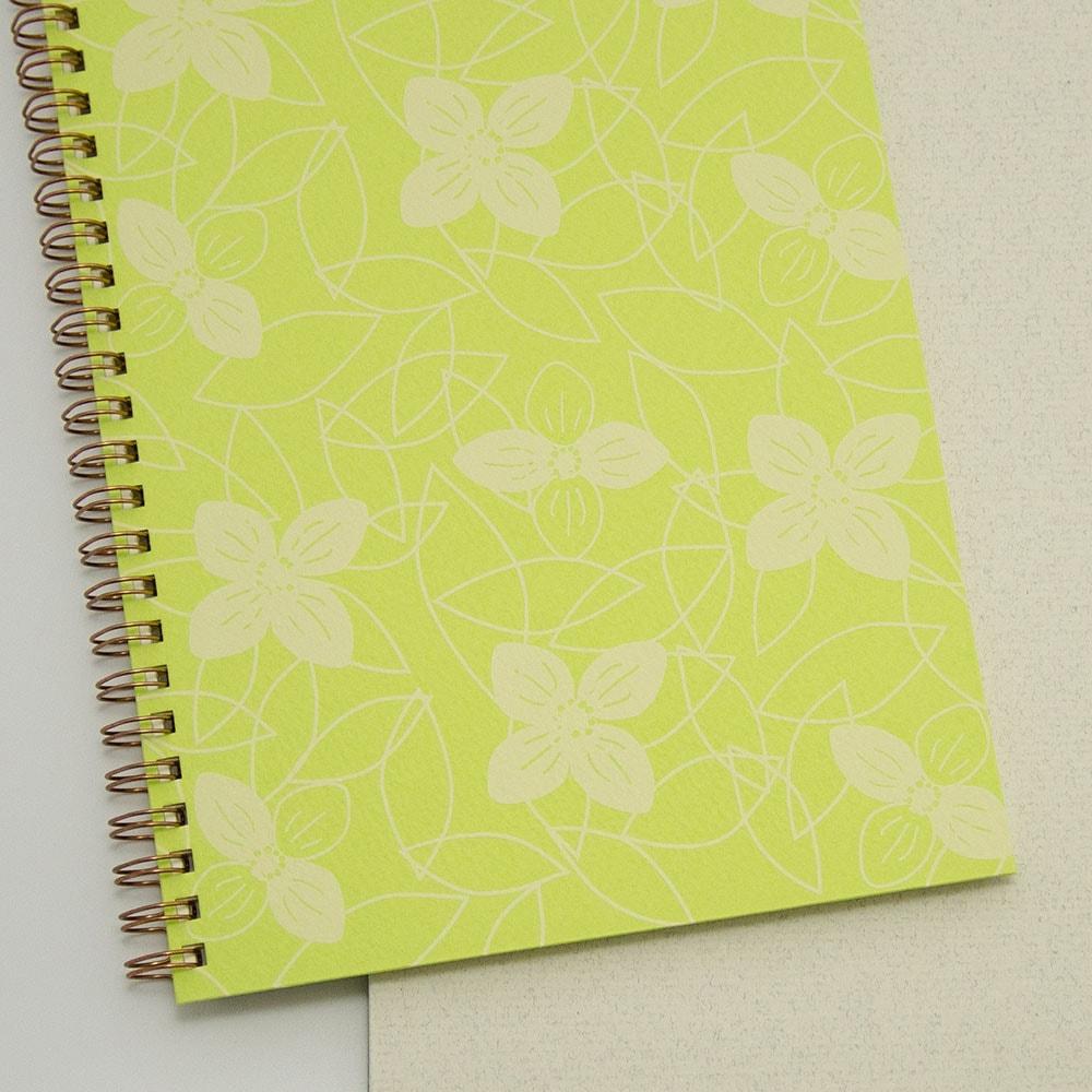 オーダーノート(A5)<br>つながり×黄緑色イメージ4