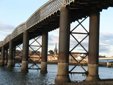 close up photograph showing detail from underneath the bridge