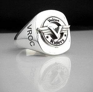 Kawasaki Vulcan Riders Bespoke Sterling Silver Ring