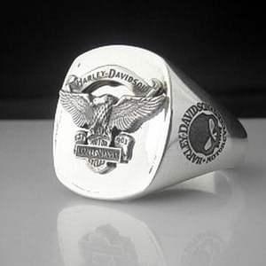 Harley Davidson Sterling Silver Bespoke Ring
