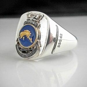HMAS Otama SSG 62 Crest Ring