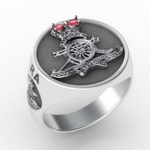 Artillery Round Ring Silver Oxidized