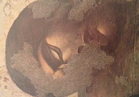 図6.チマブーエ《十字架降下》頭部拡大図 国立輝石修復研究所アーカイヴセンター