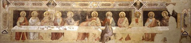 図3.タッデオ・ガッディ《最後の晩餐》全体図 Art in Toscana