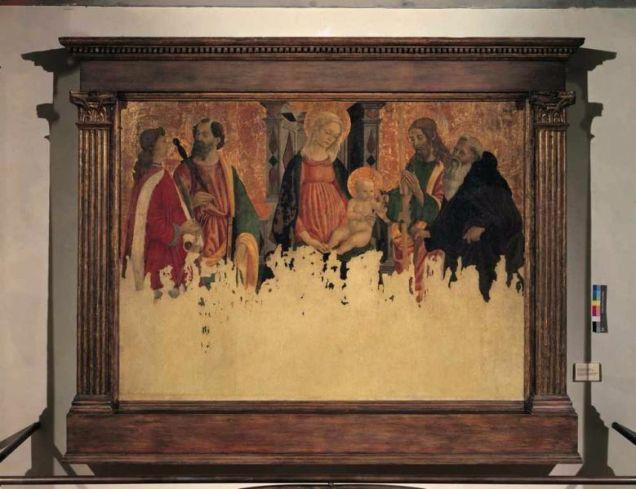 図1 フランチェスコ・ボッティチーニ《戴冠の聖母子と諸聖人》1479-1480 修復後