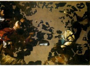 図4 バルトロメオ・マンフレディ《楽団》修復後(爆弾テロ後)