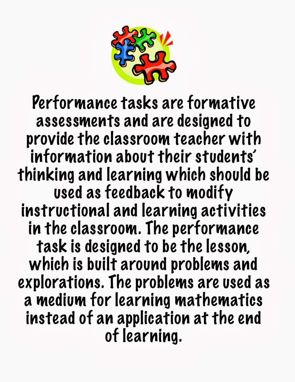 Math Performance Tasks-101