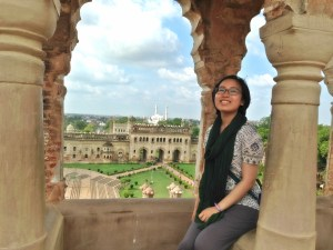 From the top of the banquet hall at Bara Imambara.