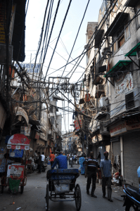 a back alley of the chandi chowk area