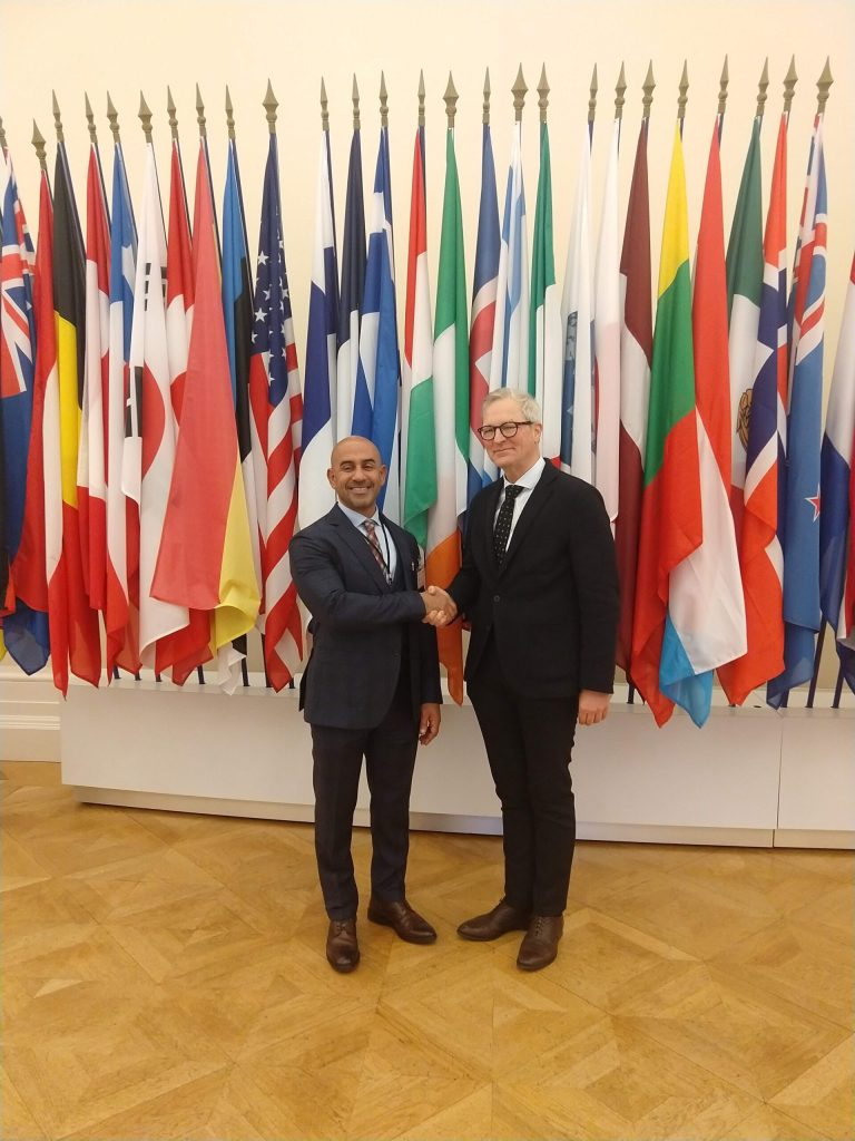 Pictured: FCSA Director General, Mr Abdullah Lootah, and Mr Paul Schreyer, Acting Director of Statistics and Data at the OECD.