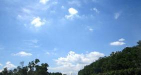 Menikmati langit cerah