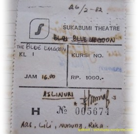 Potongan karcis Sukabumi Theatre...
