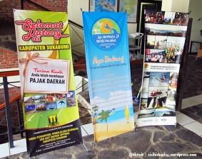 Promosi wisata Kabupaten Sukabumi di sudut front office
