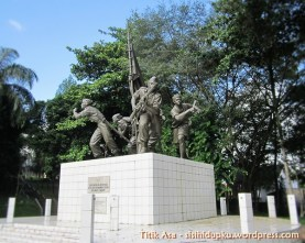 Monumen Palagan Perjuanga Bojongkokosan dari dekat.