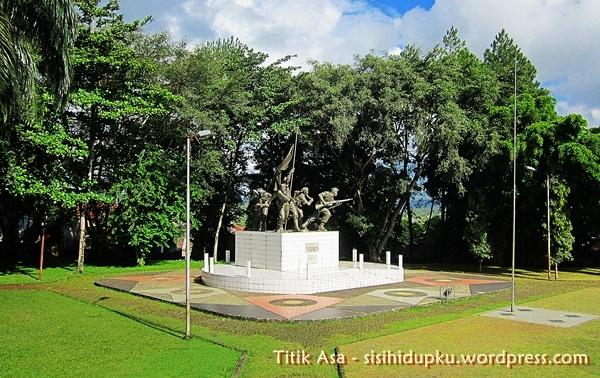 Monumen Palagan Perjuangan Bojongkokosan dari jauh...