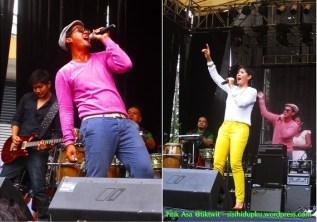 Gaya Angga dan Indah on stage.