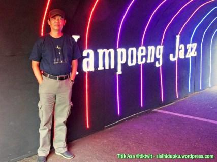 Saya di terowongan Kampoeng Jazz 2015