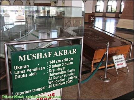 Keterangan mengenai Mushaf Akbar.