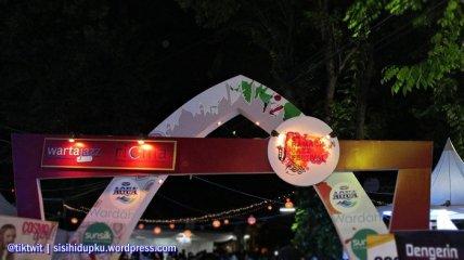 Gerbang masuk ke arena Ramadhan Jazz Festival 2016.