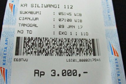 Tiket kereta api Sukabumi - Cianjur