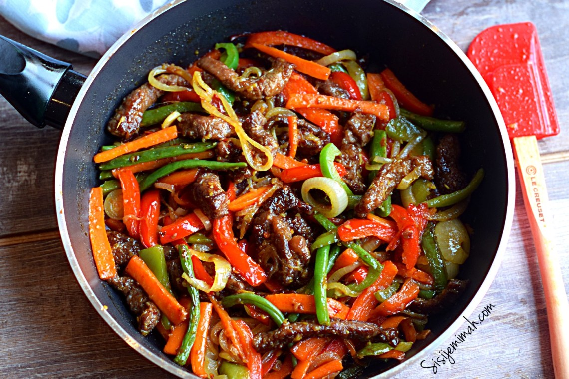 Chinese Beef Stir Fry With Crunchy Vegetables - Sisi Jemimah