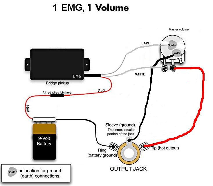 Guitar Pickup Wiring Diagrams On Emg Active B Pickup Wiring Diagram
