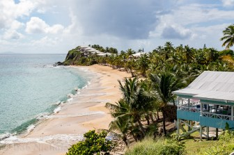 Antigua - View of beach below Boxer Shack Beach Bar.