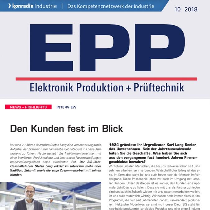 EPP Interview den Kunden fest im Blick