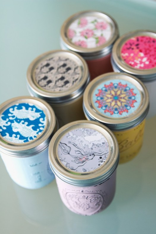 Mason Jar Painted Candle Diy Thesarahjohnson 8