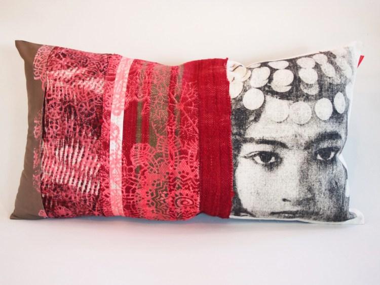 Coussin Berbère Nejma Rouge et Rose collection berbère / sissimorocco