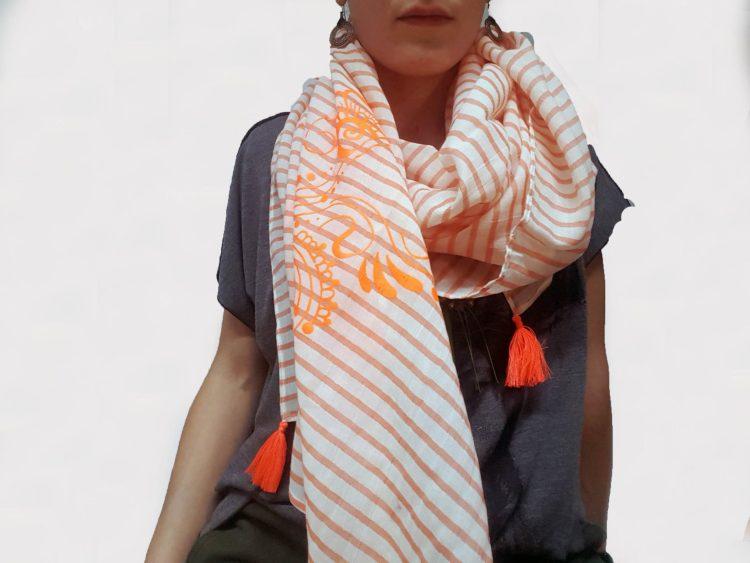 Étole Été Orange