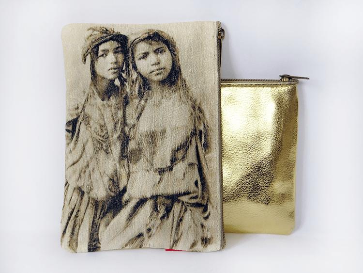 pochette 2 soeurs doré II