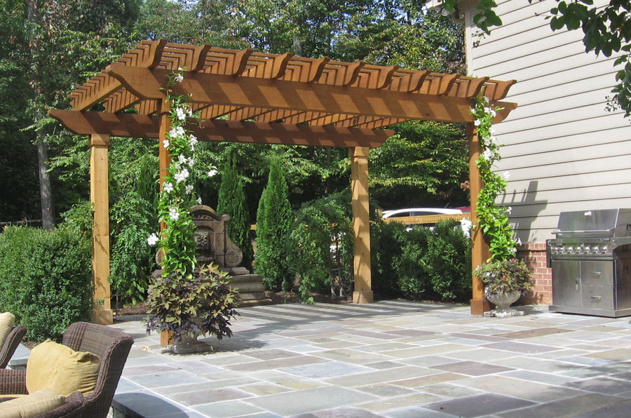 covered pergola pattern