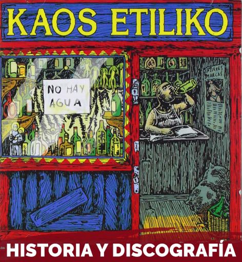 Portada del mitico disco de kaos etiliko llamada no hay agua