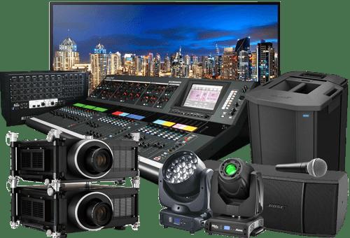 Surtido de productos utilizados por SistemasAudiovisuales en sus instalaciones de audio y vídeo