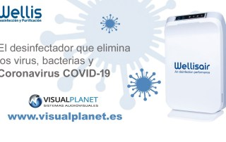 Desinfectador WellisAir en VisualPlanet que elimina el coronavirus COVID-19