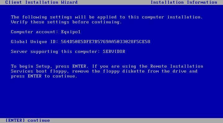 Imagen desatendida con Servidor de Instalación Remota (RIS) Windows 2003 Server
