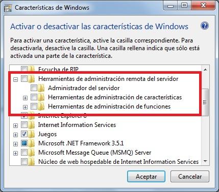 Instalar Administrador de Active Directory en Windows 7