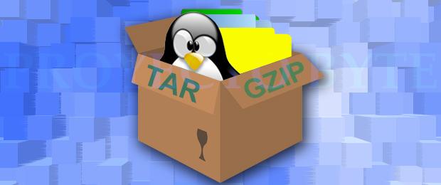 Utilidad de empaquetamiento y compresión con tar y gzip en Linux
