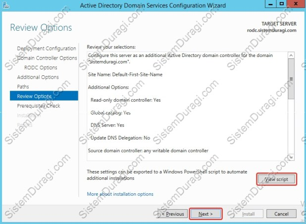 Read Only Domain Controller Kurulum (10)