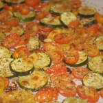 Garlic Roasted Zucchini, Squash and Tomatoes